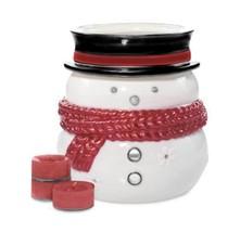 Yankee Candle Snowman Luminary Tealight Candle Holder 5-piece Set Cinnam... - $14.95