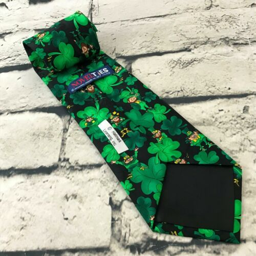 Hallmark NovelTies Mens Irish Leprechaun Shamrock Tie Green St. Patrick's Day