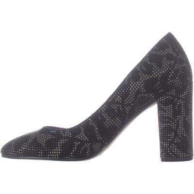 MICHAEL Michael Kors Jamie Pump Classic Heels, Black Leaf Leather image 3