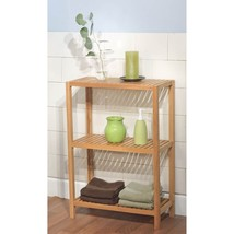 Bamboo 3-Tier Shelf Bathroom Towel Linen Storage Racks Shelves Wood Furn... - $84.65