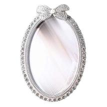 Koala Superstore Rhinestone Oval Photo Frame 4x6 Bowknot Wedding Picture Frame D - $35.11
