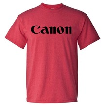 Canon T-shirt Heather Red retro camera brands 80's cotton blend graphic tee image 2