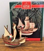 1992 Hallmark Keepsake Ornament Santa Maria 500th Anniversary Arrival in... - $8.90