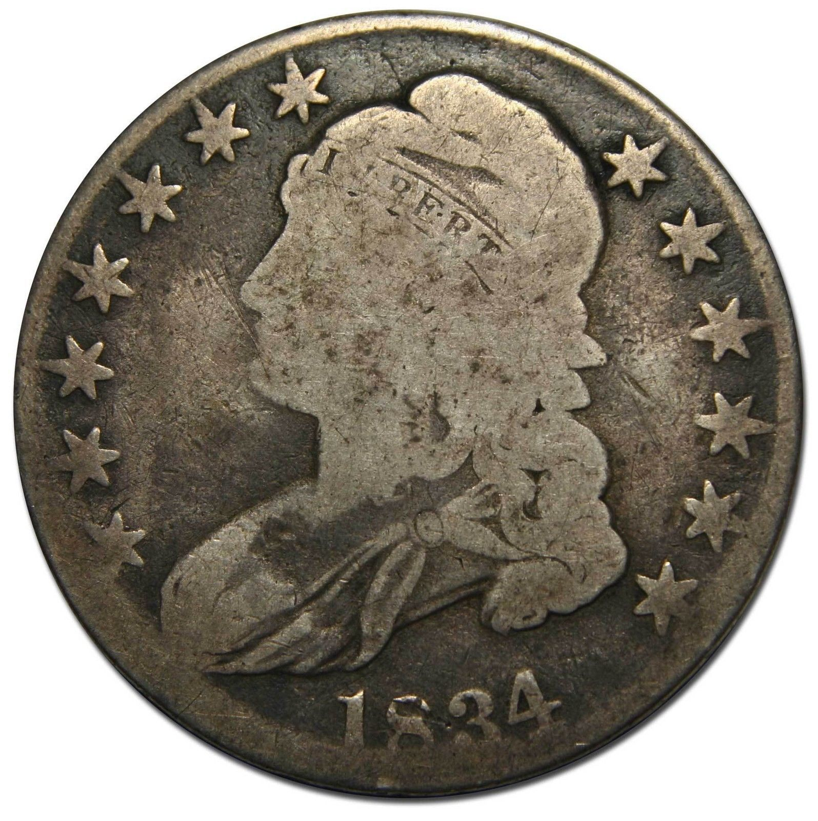 1834  Capped Bust Half Dollar 50¢ Coin Lot# MZ 4459