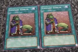 Upstart goblin 2 card Yu-Gi-Oh! lot, Konami - $6.00
