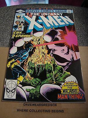 X-Men 144 Original Marvel Comic Book from 1981 Man Thing / Macabre VF Condition