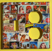 Coke Coca Cola Old posters Light Switch Power Outlet Wall Cover Plate Home decor image 7