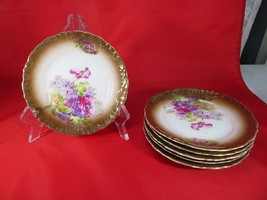 Eagle China Austria set of 6 saucer plates or tray Gold Roses Vienna Décor - $60.00