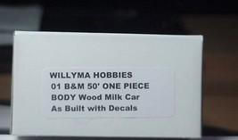 Willyma Hobbies HO Boston & Maine  B&M 50' Wood Milk Car ONE PIECE BODY Kit 01 image 5