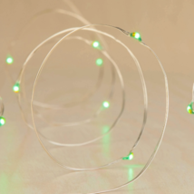 Philips 30 Christmas LED Green Red Dewdrop Battery Operated String Fairy Lights image 2