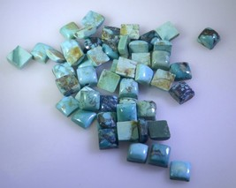 seemly Turquoise cabochon Square 5x5 mm Loose Gemstones STTURCBSQ5x5 - $3.87
