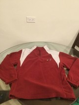 Arizona Cardinals Red White NFL Team Apparel 1/4 Zip Fleece Sweatshirt M... - $15.14