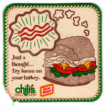 Vintage Cardboard Coaster (1) Collectible Chili's Grill & Bar Oscar Maye... - $3.13