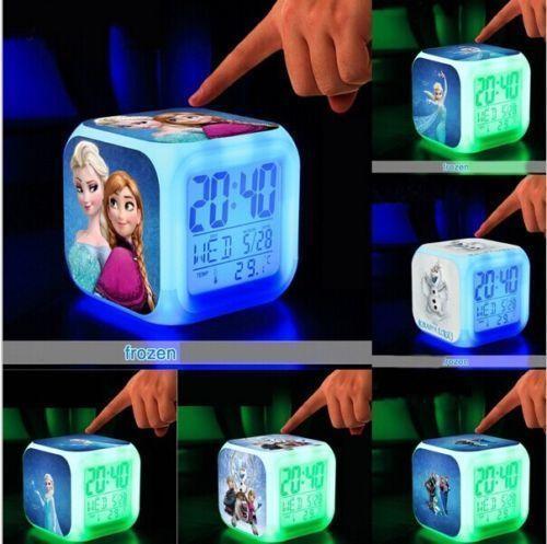 LED Flash Alarm Clock Frozen Elsa Princess Anna Olaf Sven Xmas Gifts - Alarm Clocks & Clock Radios