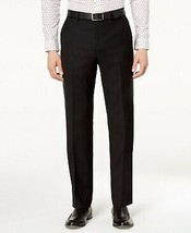 Michael Kors Men's Classic-Fit Airsoft Stretch Solid Suit Pants Black Si... - $79.19