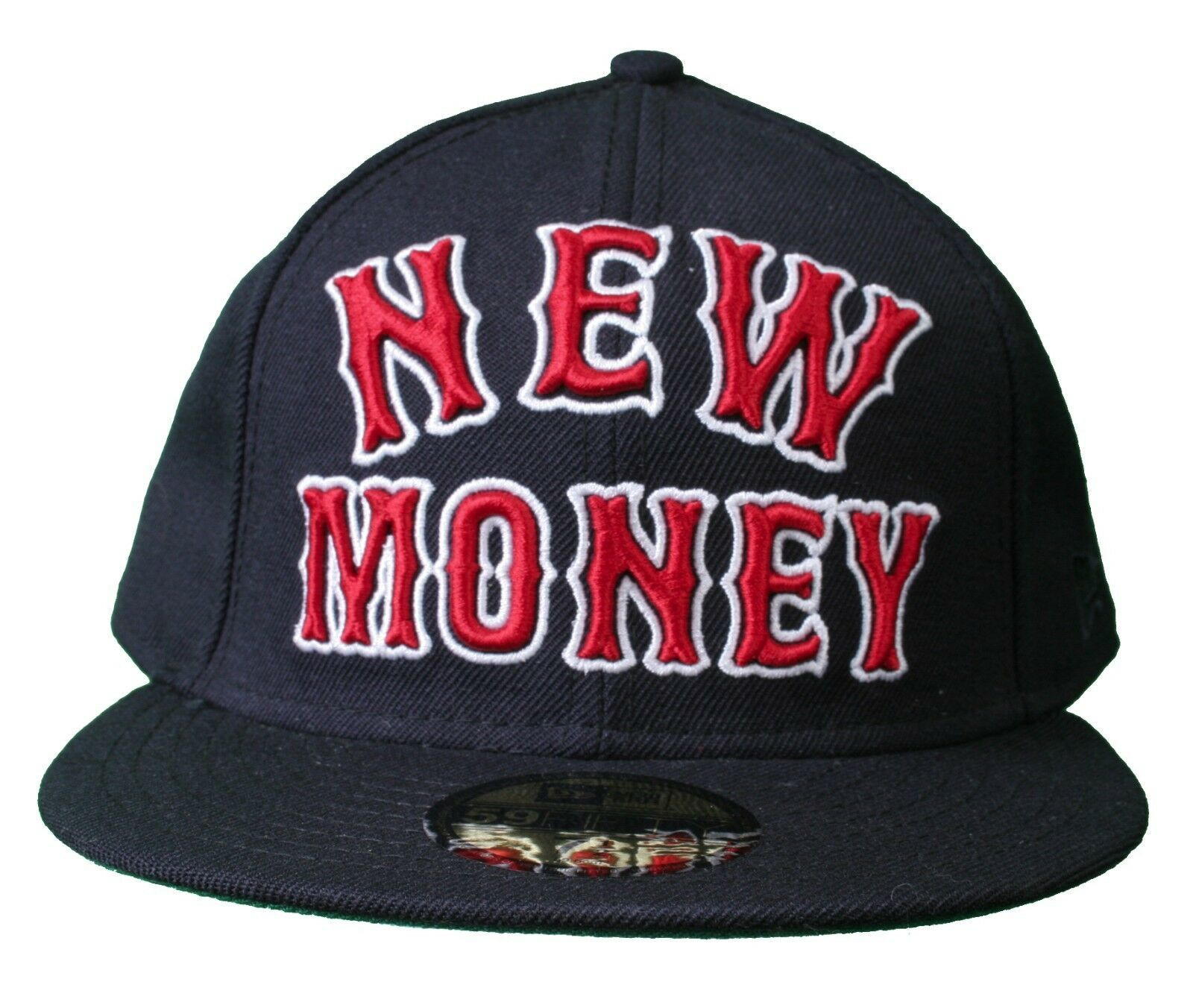 Rocksmith Team New Money 59FIFTY new Era Navy Red Fitted Baseball Hat Cap