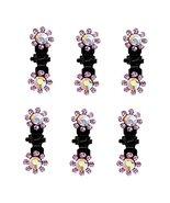6 PCS Beautiful Bridal Hair Accessory Mini Hair Clips Hairpin Crystal Ha... - $17.74