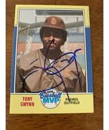 Tony Gwynn Hand Signed Autographed Baseball Card W/COA HOF San Diego Padres - $28.04