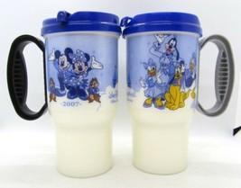 Walt Disney World 2007 Where Dreams Come True Travel Insulated Cup Mug Set of 2 - $21.52