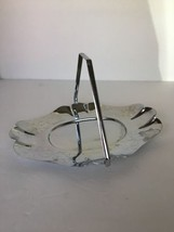 Metal Serving Tray w/ Handle Decorative Silverp... - $15.84