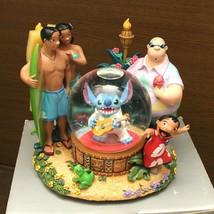 US Disney Store Lilo and Stitch Stitch as Elvis Snow Glove Snow Dome with Music  - $466.29