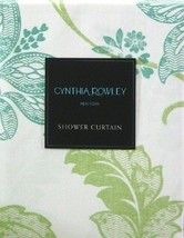 Cynthia Rowley New York Shower Curtain Vina - Teal Blue, Green, on White - $23.57