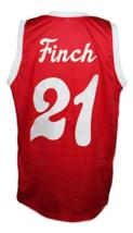 Larry Finch #21 Memphis Sounds Aba Basketball Jersey New Sewn Red Any Size image 2