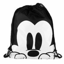 Mickey Mouse And White Drawstring Bag Black - $14.98
