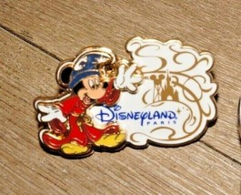 DisneyLand Paris Mickey Mouse Sorcerer's Apprentice Disney Trading Pin DLP - $7.91