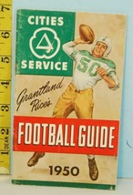 1950 Grantland Rice's Cities Service Football Guide Koolmotor Oil & Gas ... - $6.44