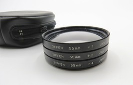 (3) Vintage Tiffen 55mm - +1, +2, +4 Close Up - Filters Set - Case - Sup... - $5.00