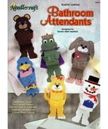 Bathroom Attendants in Plastic Canvas by Sandra Maxfield Needlecraft Sho... - $7.95
