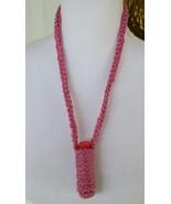 Lip Balm Necklace Cozy - Pink - $3.95