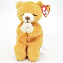 1998/1999 Ty Beanie Baby Original Hope the Praying Bear Beanbag Plush Doll Toy