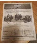 Briggs & Stratton OPERATING & MAINTENANCE INSTRUCTIONS 210000, 280000 & ... - $4.00