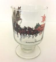 Vintage Budweiser Champion Clydesdales 1970 Stemmed Glass Goblet Anheuse... - $21.99