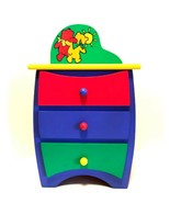 Tollytots My Little Doll Dresser Colorful Wood New No Box 17 inches Tall - $47.52