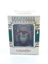 "Enesco Treasury Of Christmas Ornament ""Li'l Drummer Bear"" 1988 - $11.20"