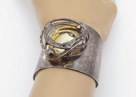 SMYKKER DENMARK 925 Silver - Vintage Oxidized Sculpted Cuff Bracelet - B... - $271.99