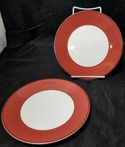 "Pagnossin Trevisco Side Plates Set of 2, 8 1/4"" Ironstone Spa Rust, Ital... - $13.07"