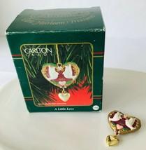 Carlton Cards Mini Christmas Ornament A Little Love Hearts & Doves in Box 1999 - $12.59