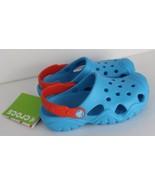 Crocs swift water toddler youth kids electric blue tangerine size C12 - $21.23