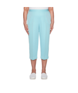 Alfred Dunner Catalina Island High Rise Aqua Capris Size 12P Msrp $48 New  - $21.99