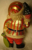 Vaillanourt Folk Art American Santa with Red and Gold Stripes signed by Judi! image 2