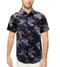 Men's Cotton Short Sleeve Casual Button Down Floral Pattern Dress Shirt image 5