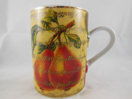 Pears and Apples Coffee Tea Mug 8 Oz Gold Red Yellow DEPARTMENT 56 - $5.53