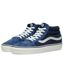 Vans SK8 Hi Mid Reissue Hairy Suede Mix Dress Blues Men's Skate Shoes Si... - £60.81 GBP
