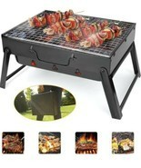 BBQ Barbecue Grill Large Folding Portable Charcoal Stove Camping Garden ... - $18.69