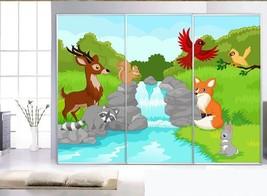 3D Tier Fluss 4657 Fototapeten Wandbild Fototapete BildTapete Familie DE - $52.21+