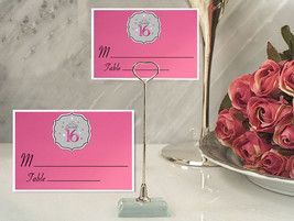 Metal Place Card Holder Pink Sweet 16 Party Table Number Asst. Qty. - ₨4,328.88 INR+